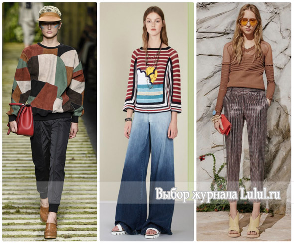 Модные образы с брюками весна лето 2017 года