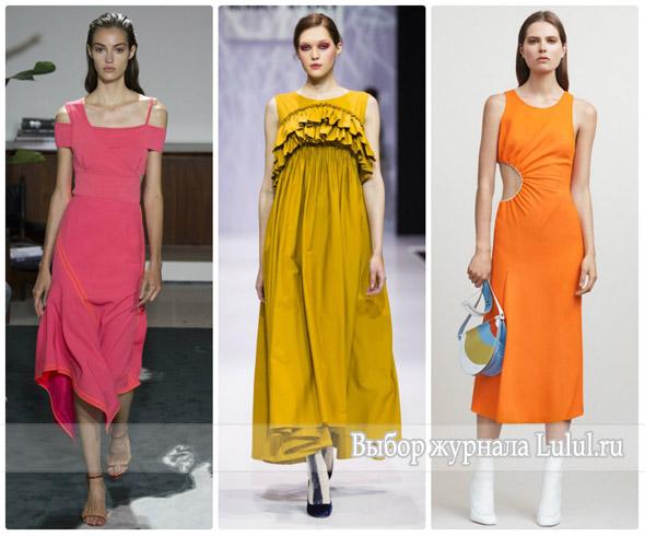 Стильные платья весна-лето 2017 года
