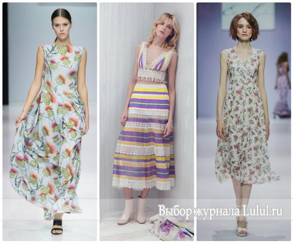 легкие платья весна-лето 2017 года