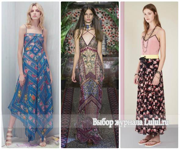 Модные сарафаны 2017 года из коллекций весна-лето