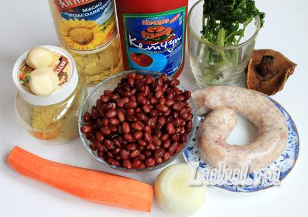 Фасолевый суп из красной фасоли фото